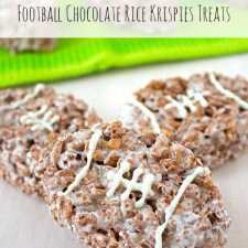 Football Chocolate Rice Krispies Treats