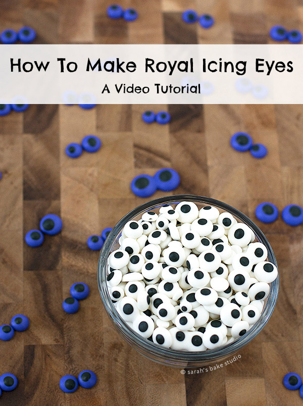 How to Make Royal Icing Eyes – a nifty video tutorial showing you how to make your very own Royal Icing Eyes!