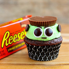 Reese's Frankenstein Cupcakes from Your Cup of Cake