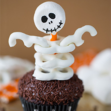 Skeleton Cupcakes from Your Cup of Cake