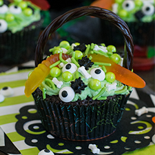 Witch's Cauldron Brownie Cupcakes from Inside BruCrew Life
