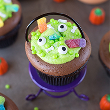 Witch's Cauldron Cupcakes from Life Made Simple