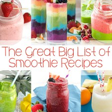 The Great Big List of Smoothie Recipes