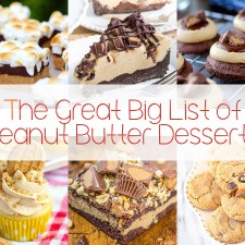 The Great Big List of Peanut Butter Desserts