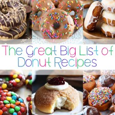 The Great Big List of Donut Recipes