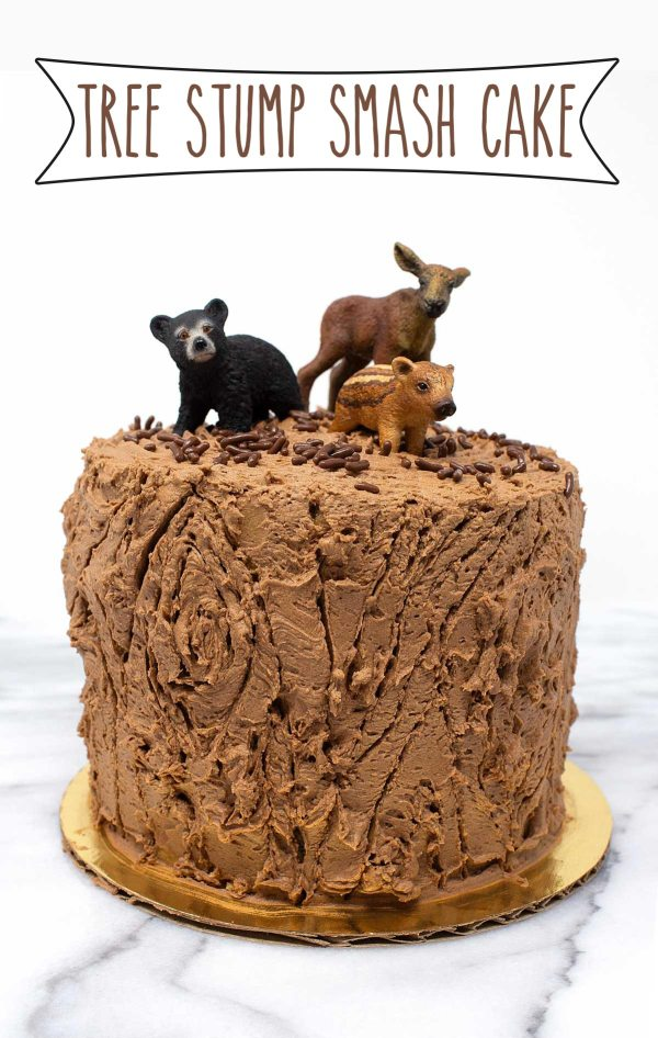 Tree Stump Smash Cake Sarahs Bake Studio