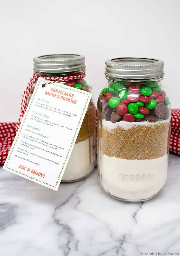 Christmas M M S Cookies In A Jar Sarahs Bake Studio