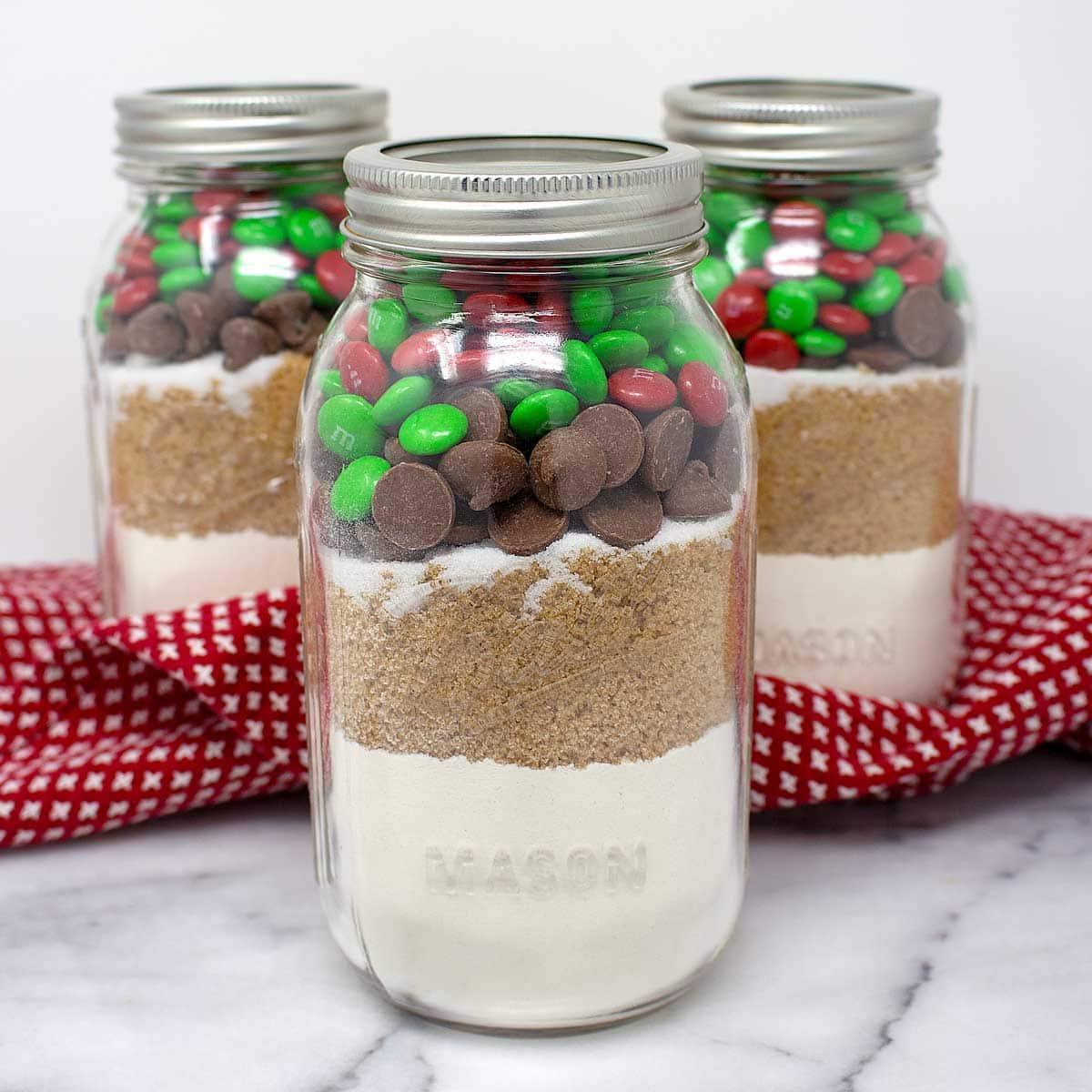 Christmas M M S Cookies In A Jar