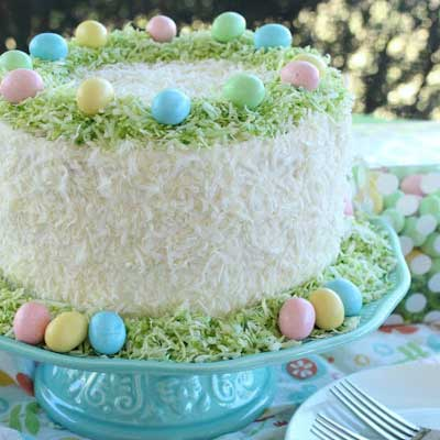 Easter Lemon Coconut Cream Cake from Love and Confections