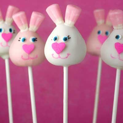 Easter Bunny Cake Pops from Bakerella