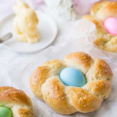 Easter Egg Bread from Baking A Moment