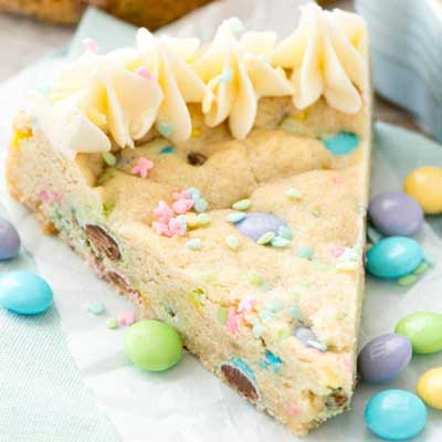 Easter Sugar Cookie Cake from Crazy for Crust