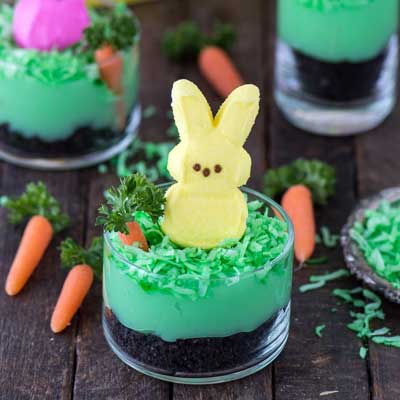 Peeps Bunny Pudding Cups from The First Year