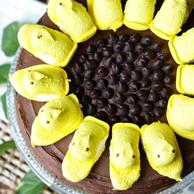Sunflower Peeps Cake from Erica's Sweet Tooth