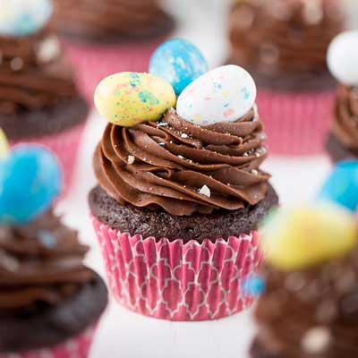 Chocolate Whopper Egg Cupcakes from Your Cup of Cake