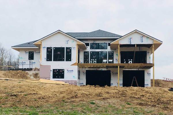 Life Is Sweet May 2019 - Progress on the Back of Our House.