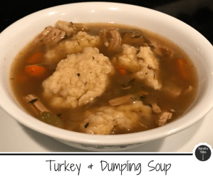 turkey & dumpling soup