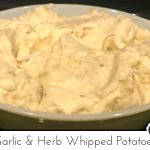 garlic & herb whipped potatoes