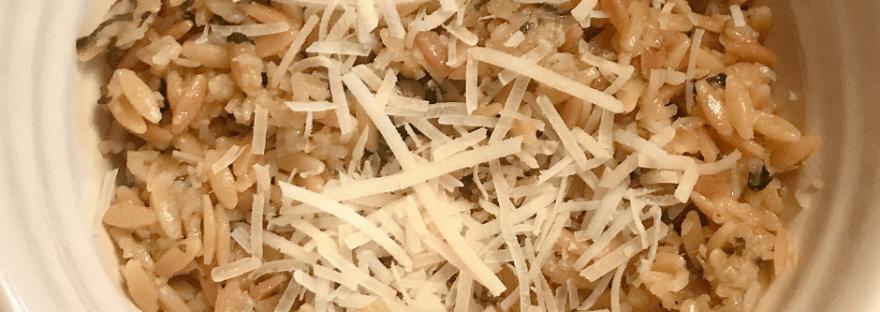 parmesan & basil orzo