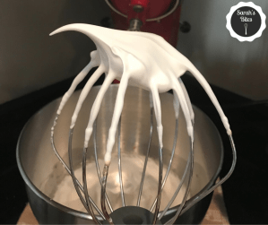 KitchenAid mixer whip attachment with meringue