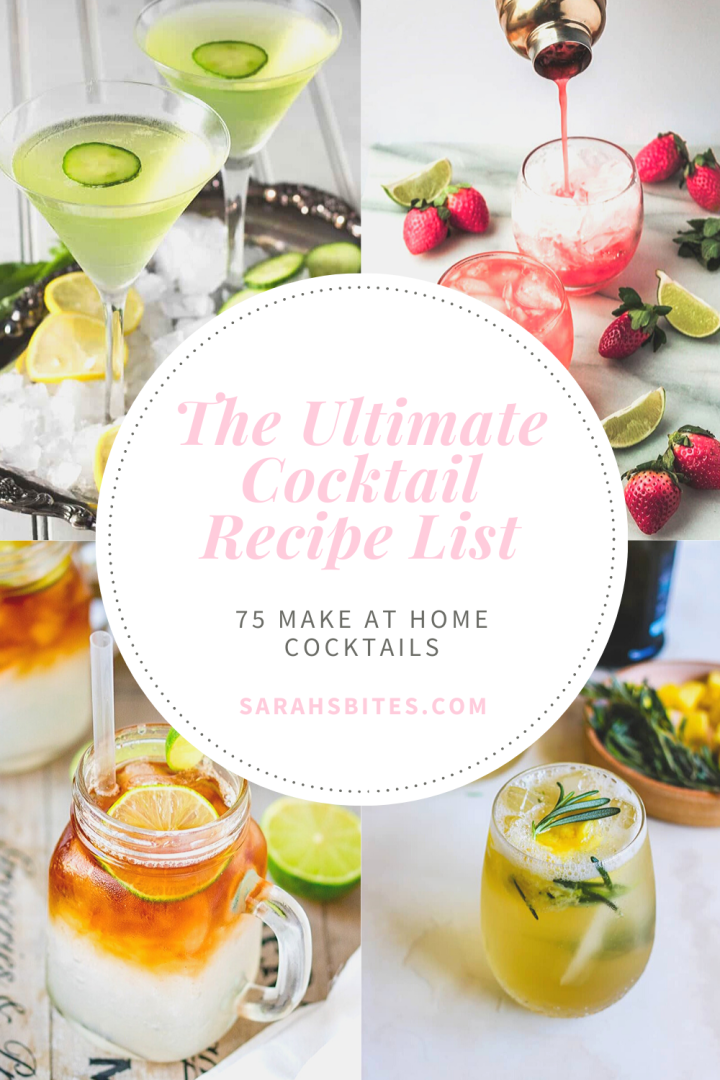 The Ultimate Cocktail Recipe List {75 Cocktails}