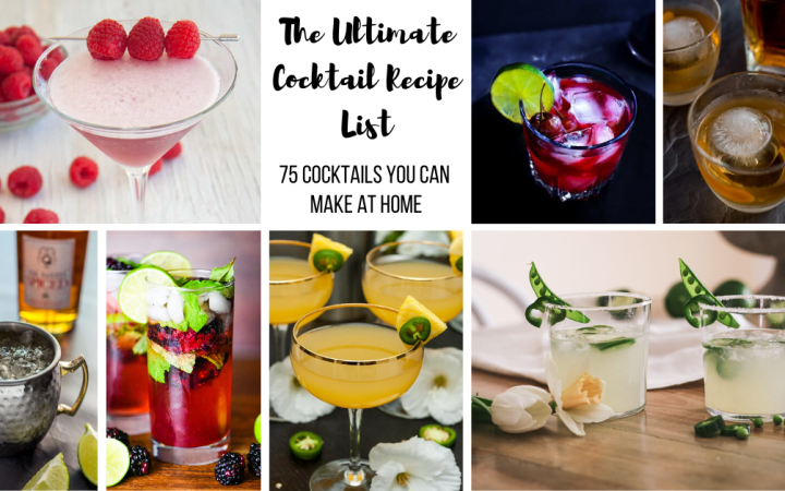 Collage of cocktails