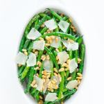 Green beans with parmesan cheese.