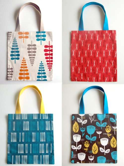 DIY tote bag holiday gift