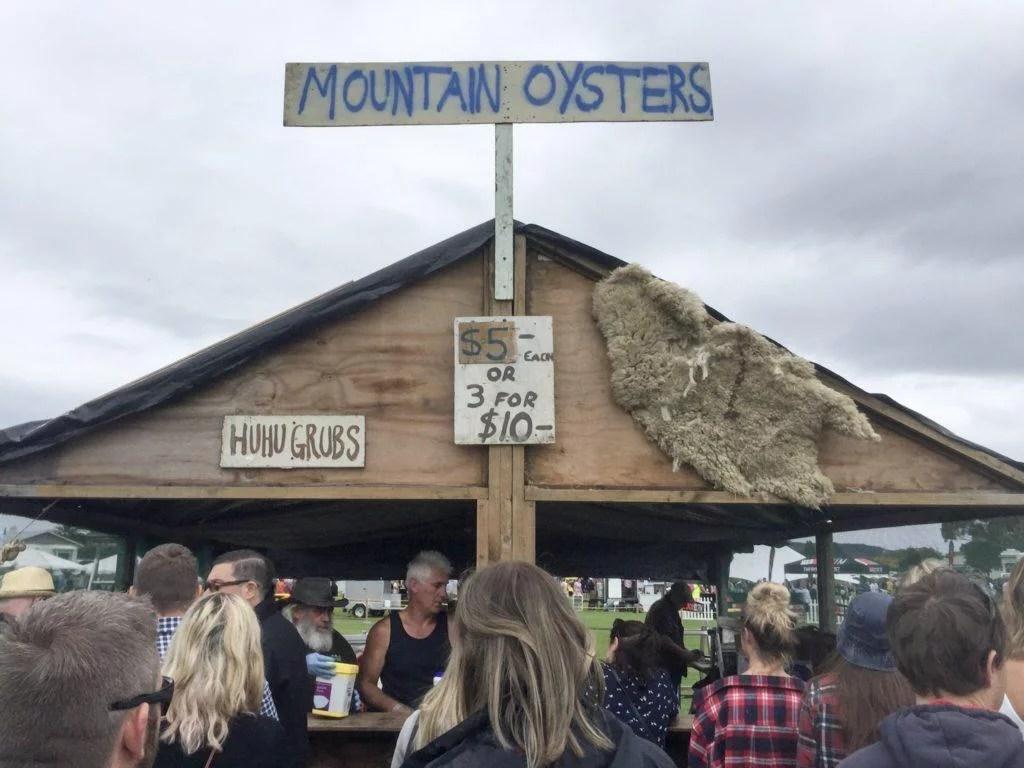 Mountain Oysters Hokitika Wildfoods Festival