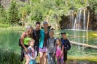 The whole fam at Hanging Lake