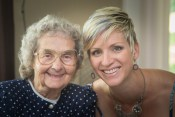 My grandmother in law and me.