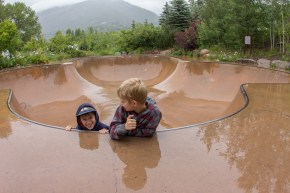 A very wet skate bowl...