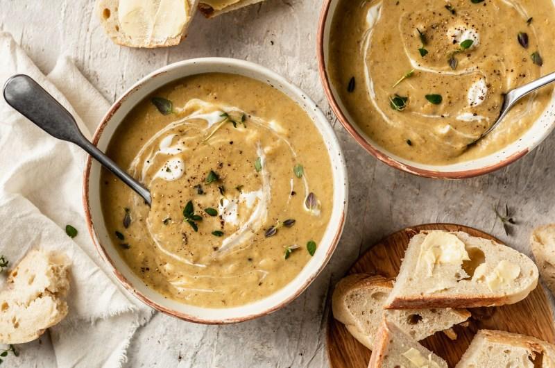 Creamy Mushroom & Rice Soup