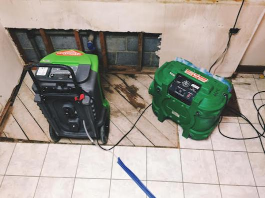 Servpro Dehumidifier kitchen