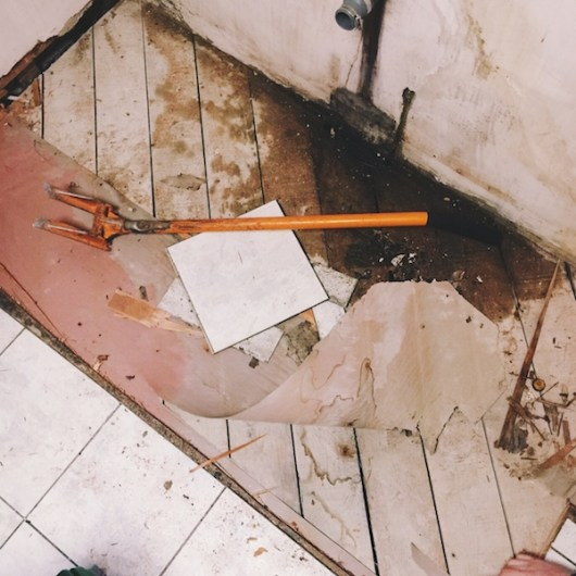 Water damage, servpro, subfloor