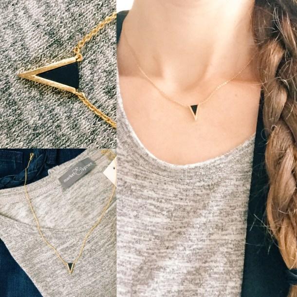 Stitch Fix review Jill Michaels V Charm Necklace