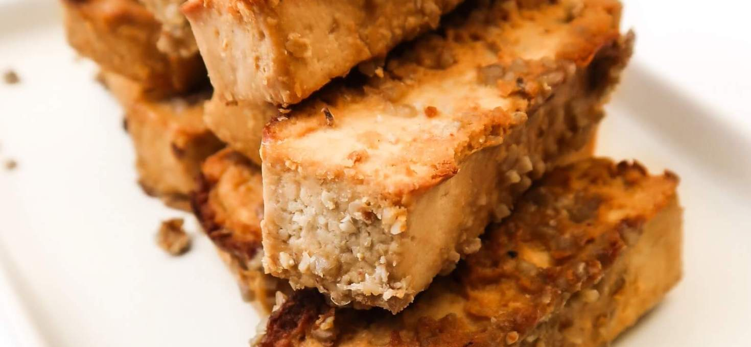Simple Baked Tofu with Tahini Marinade