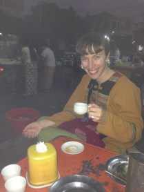 Tea at an Indian street stall in Mandalay - best chapatis!