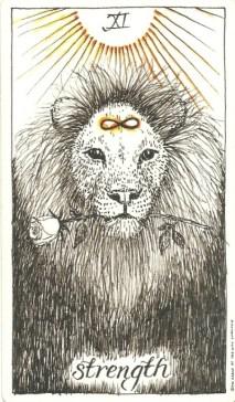 Strength - The Wild Unknown Tarot by Kim Krans