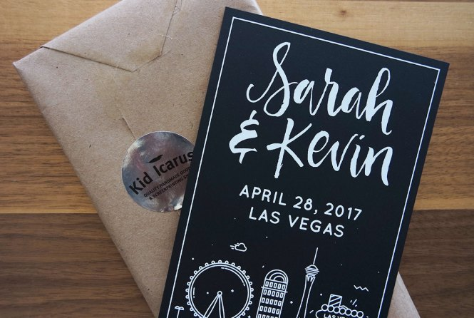 Las Vegas Wedding Playing Card Invitations And Save The Dates