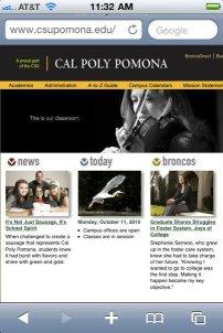 on the Cal Poly Pomona website