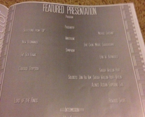 Program from DRHS' performance of my work.