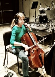 Anne (cello) records Sonata Moderna and Organic Circuitry for us