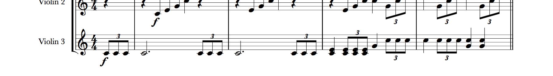 Mendelssohn Wedding March (Main Theme) for Three Violins