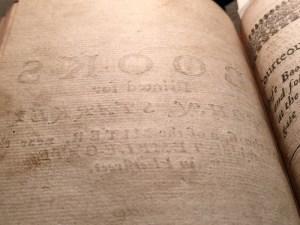 John Starkey's bookseller's advertisement in the back of John Dancer's translation of Tasso's Aminta (London, 1660; Folger Shakespeare Library, T172)