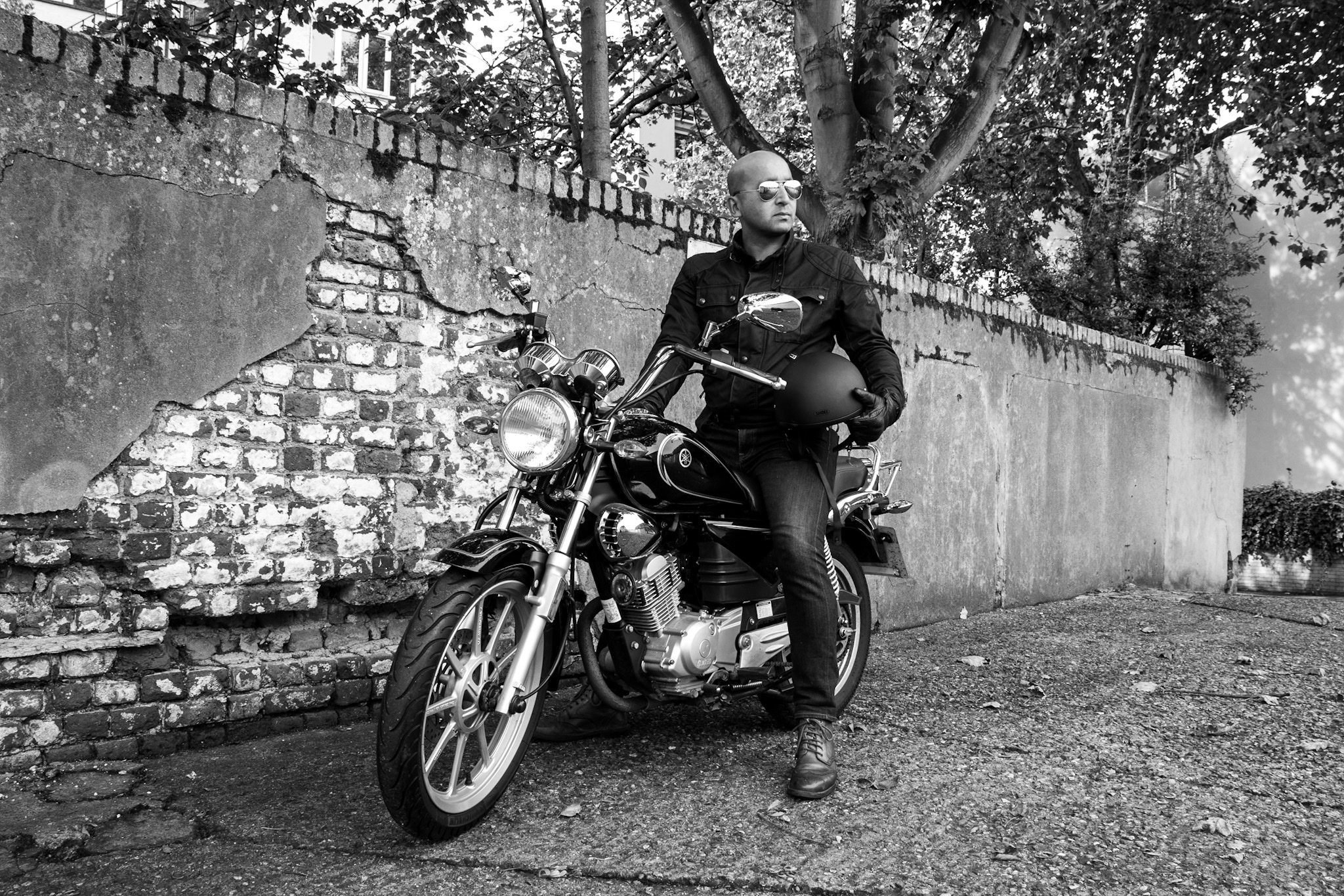 Motorbike portrait photography