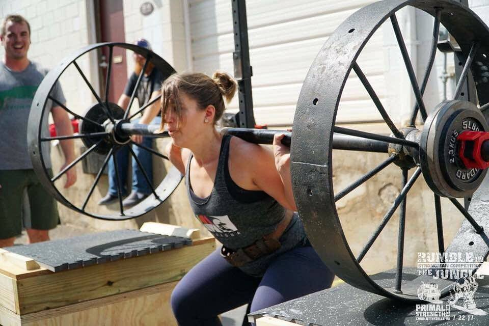 Strongman Competition Wagon Wheel Squat