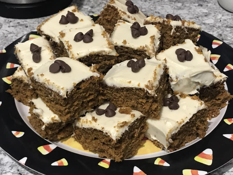 Sarah Wyland | Pumpkin Cake with Cream Cheese Frosting