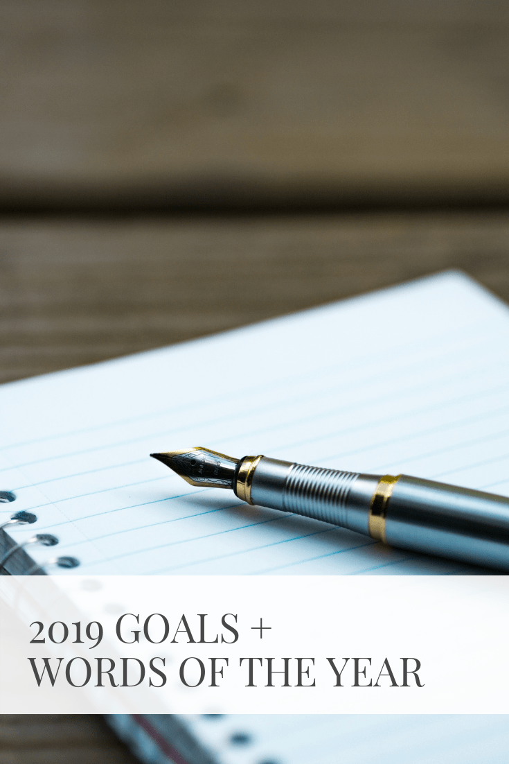 2019 Goals + Words of the Year | Sarah Wyland
