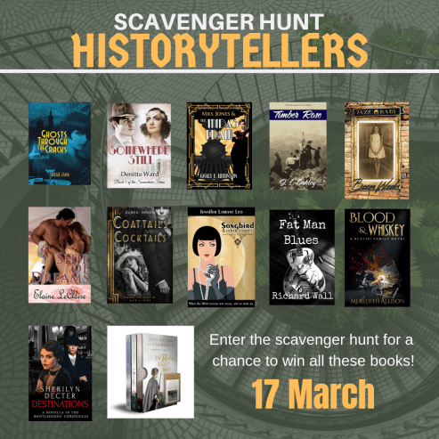 HISTORYTELLERS Scavenger Hunt (17 March 2019) - Win a bundle of 14 novels historically set int he 1910s, 1920s and 1930s